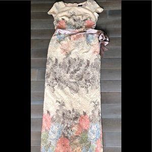 Adrianna Papell 42 jacquard print dress
